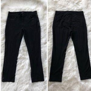 NYDJ | Black Leather panel Lift Tuck Skinny Jeans